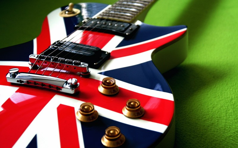 Indie Guitar Union Jack Les Paul