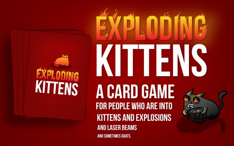 Exploding Kittens met le feu à Kickstarter