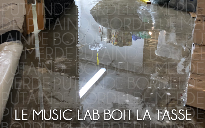 Le Music Lab prend l'eau